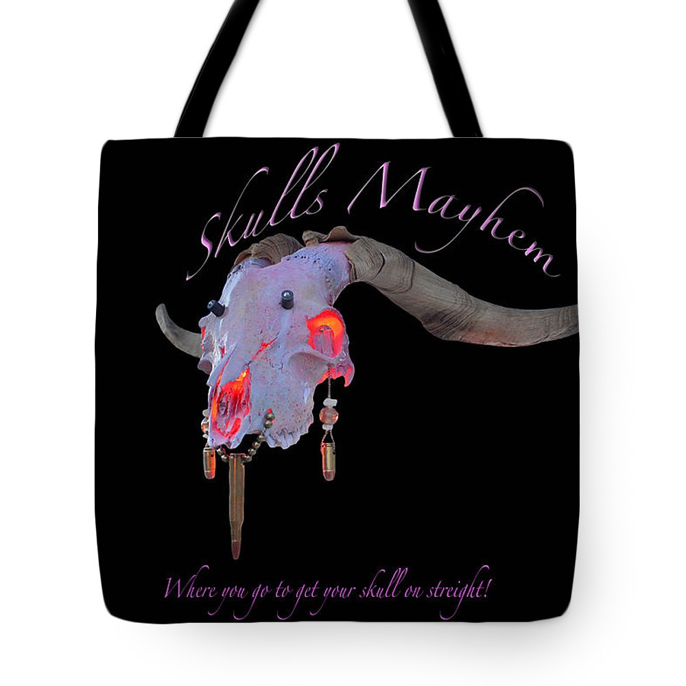 Mountain Goat Art Tote Bag featuring the photograph Pink Goats by Mayhem Mediums