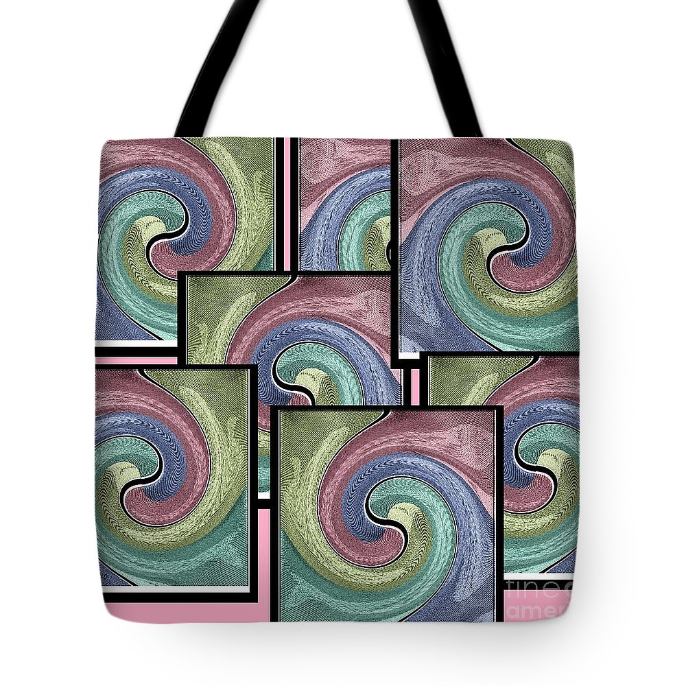 Abstract Tote Bag featuring the mixed media Pink Healing by Ann Calvo