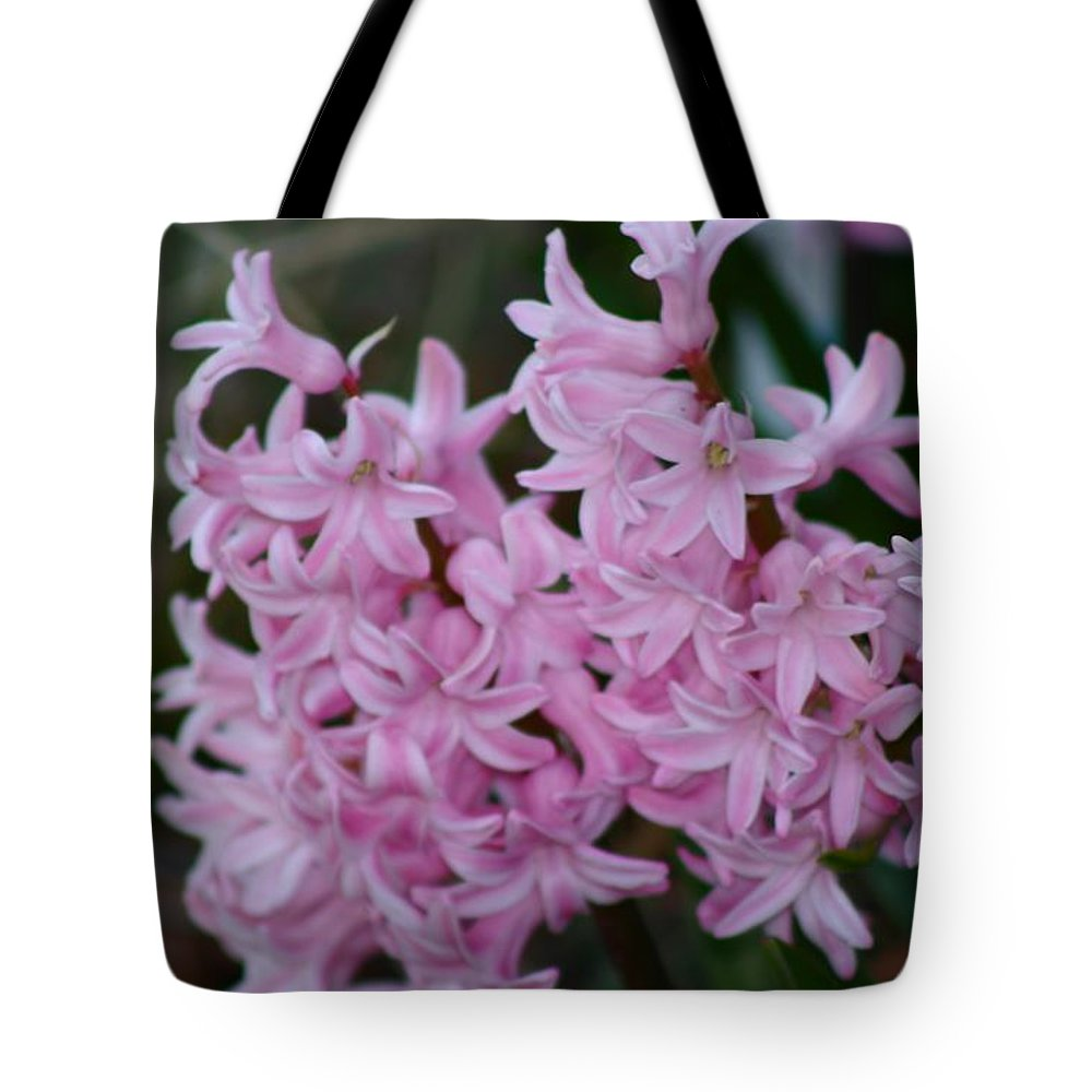 Pink Tote Bag featuring the photograph Pink Hyacinth by Nance Larson
