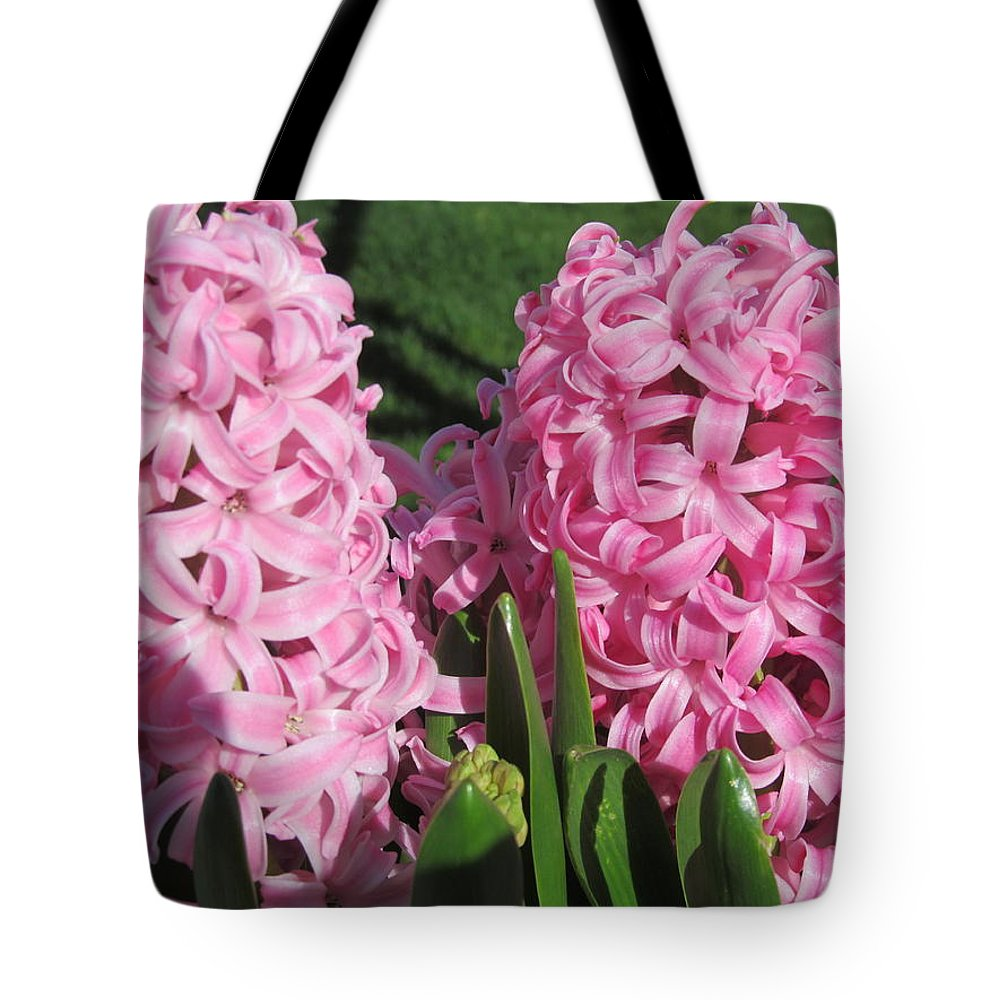 Flower Tote Bag featuring the photograph Pink Hyacinth by Tina M Wenger