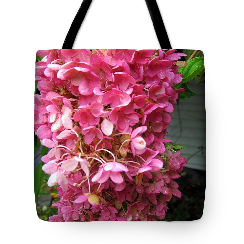 Hydrangea Tote Bag featuring the photograph Pink Hydrangea by Elizabeth Dow