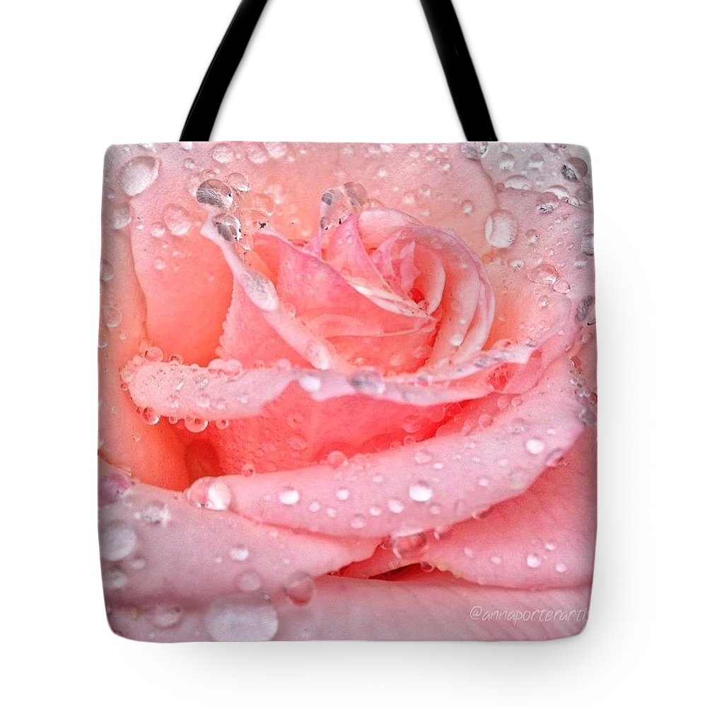 Pink Kisses Tote Bag featuring the photograph Pink Kisses by Anna Porter