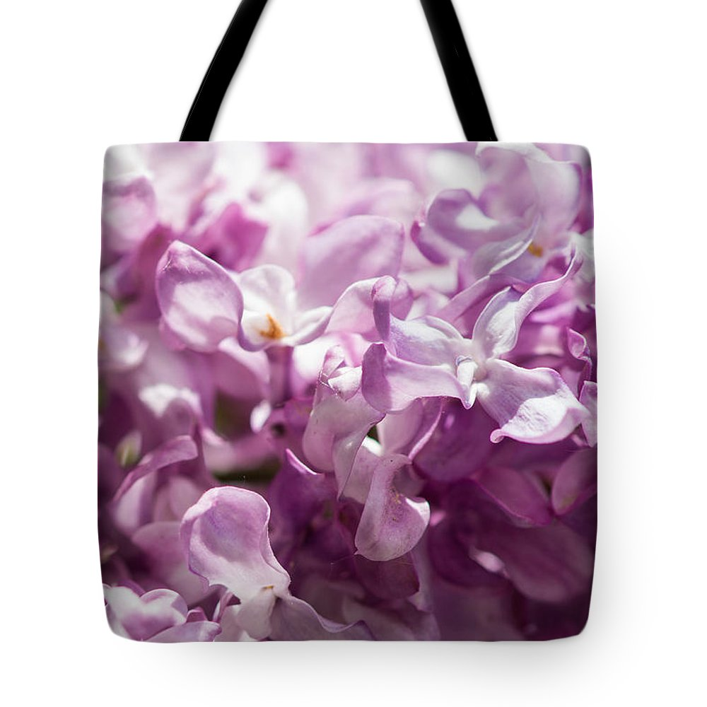 Beautiful Tote Bag featuring the photograph Pink Lilacs Closeup - Featured 3 by Alexander Senin