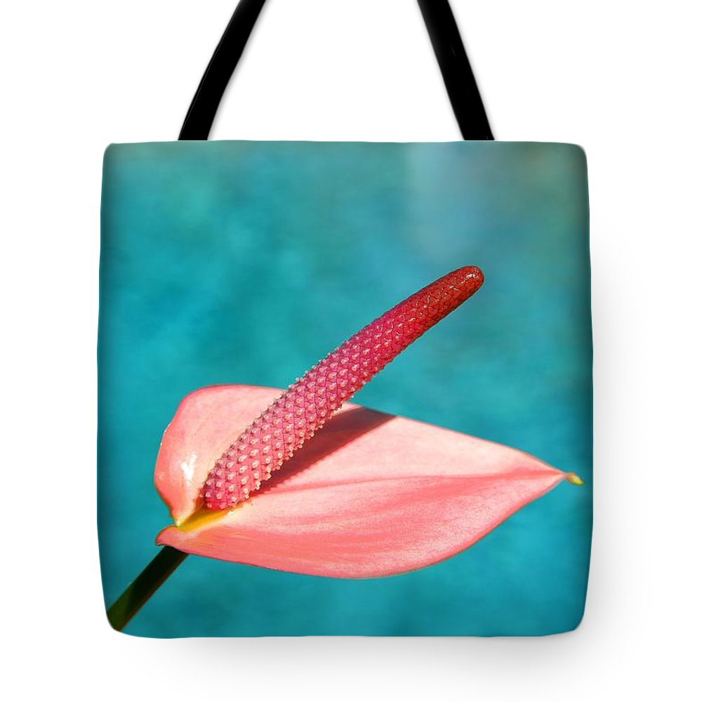 Pool Tote Bag featuring the photograph Pink Lily by Darren Burton