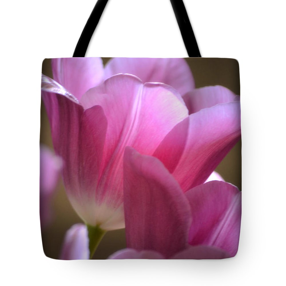 Tulip Tote Bag featuring the photograph Pink Passion by Deb Halloran