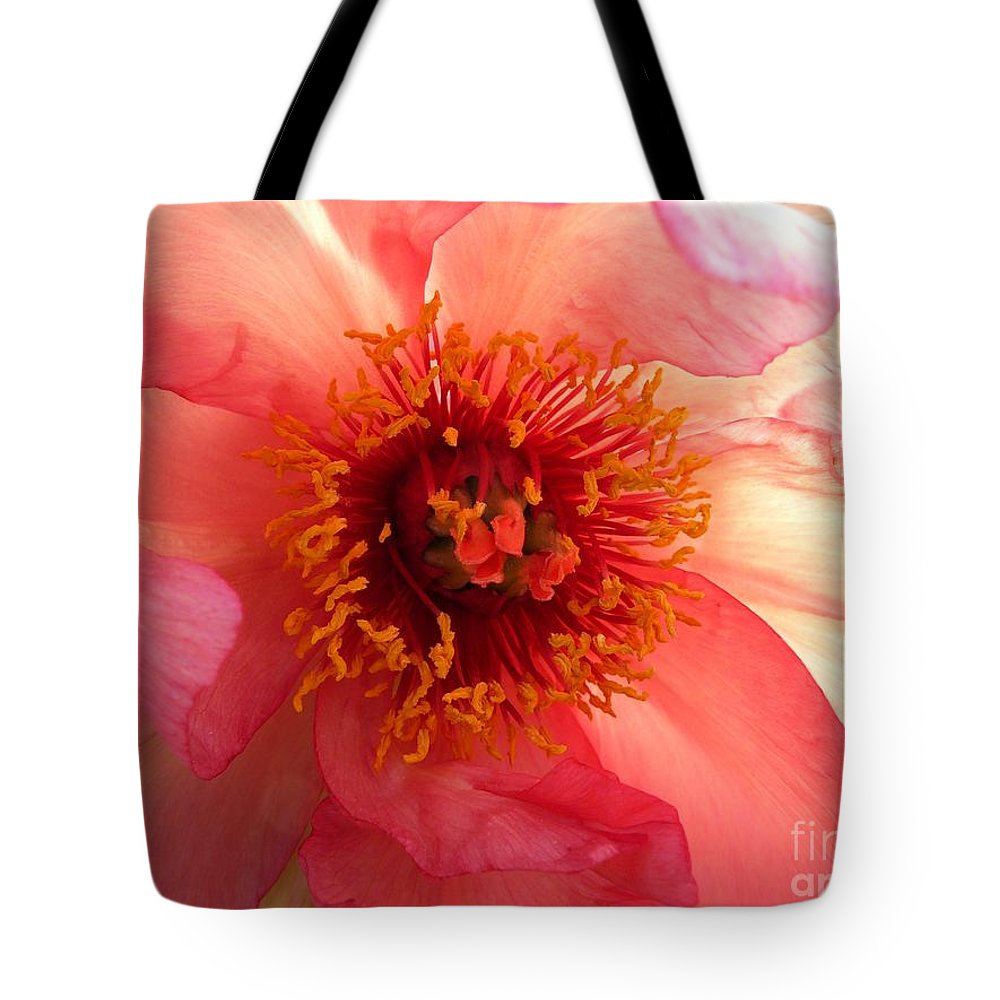 Peony Tote Bag featuring the photograph Pink Peony by Jeff Breiman