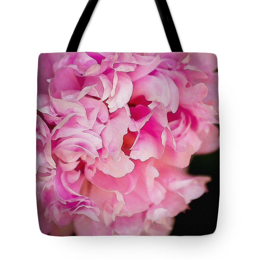 Pink Tote Bag featuring the photograph Pink Peony by Pati Photography