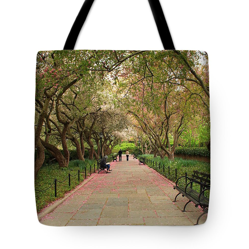 Pink Petals Tote Bag featuring the photograph Pink Petals by Catie Canetti