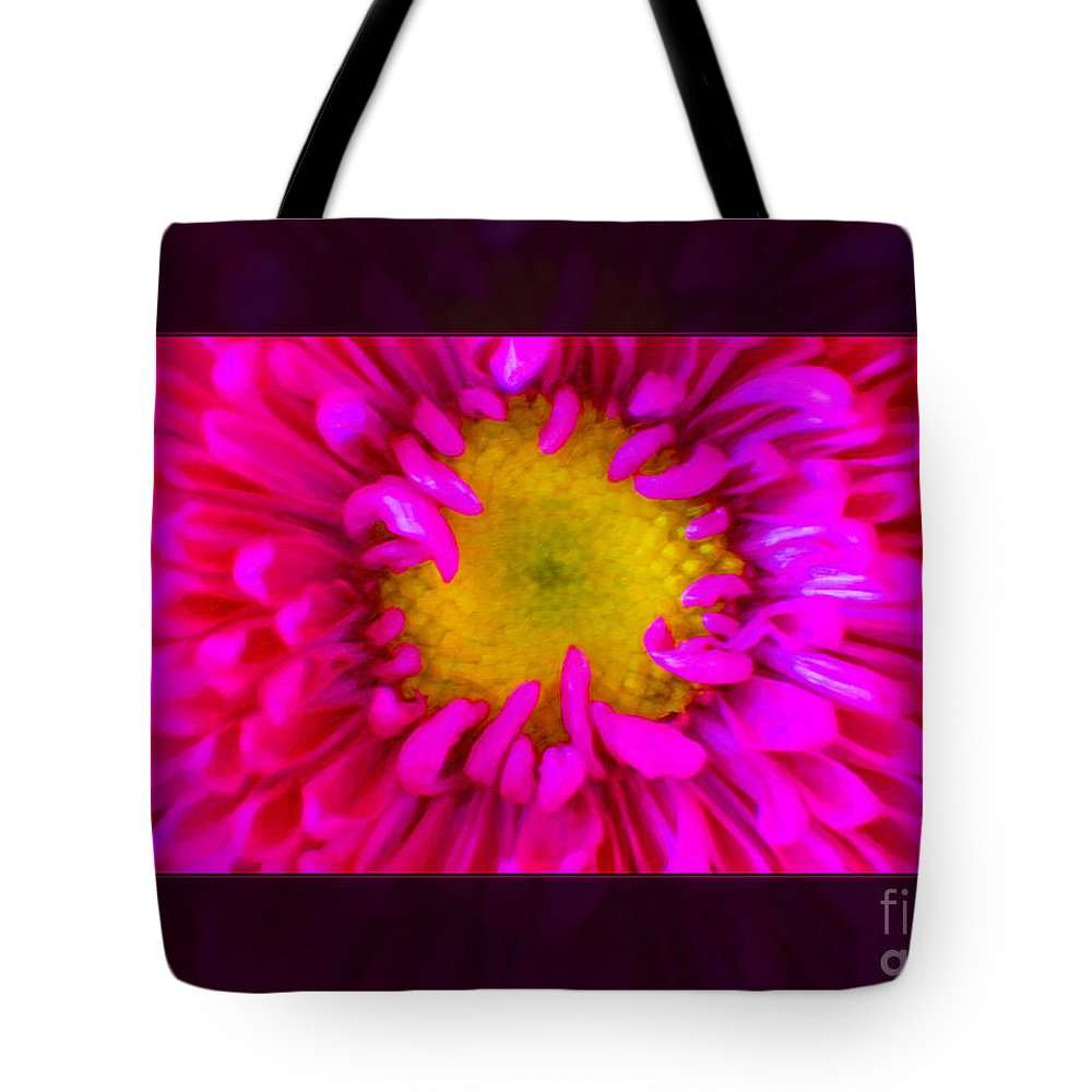 Pink Petals Envelop A Yellow Center An Abstract Flower Painting Tote