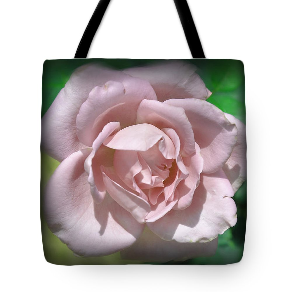 Rose Tote Bag featuring the photograph Pink Rose by Deborah Good