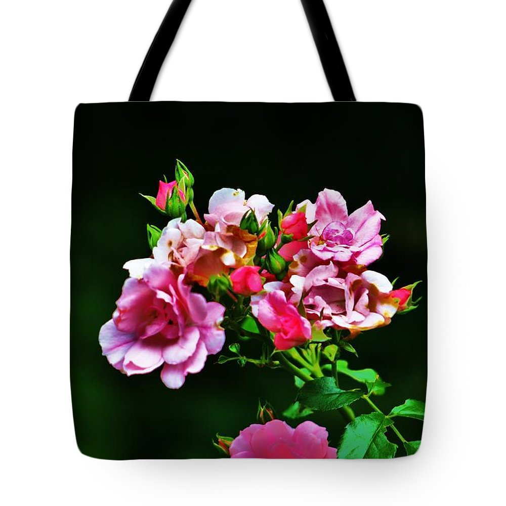 Pink Tote Bag featuring the photograph Pink Roses by Chuck Hicks
