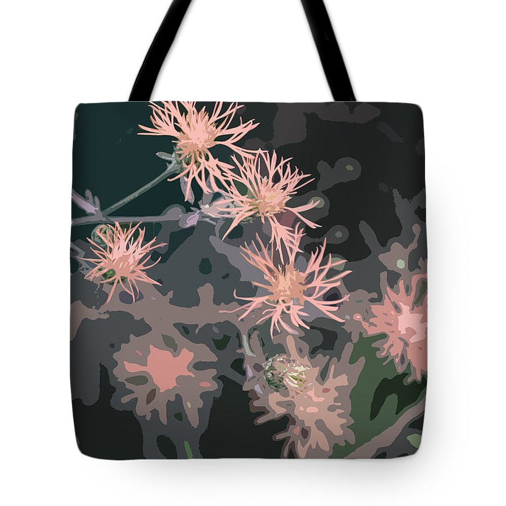 Flowers Tote Bag featuring the photograph Pink Thistle Abstract by Nancy Merkle
