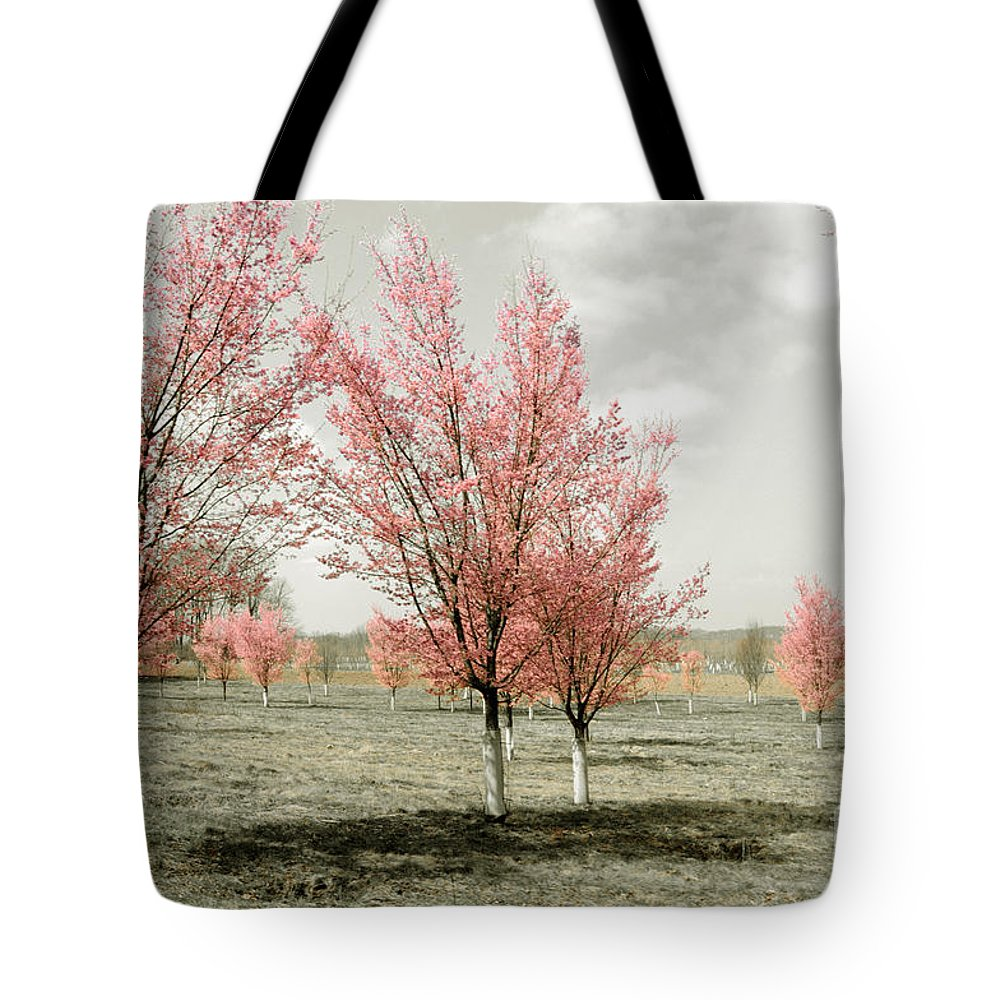 Pink Tote Bag featuring the photograph Pink Trees by Cindy Roesinger