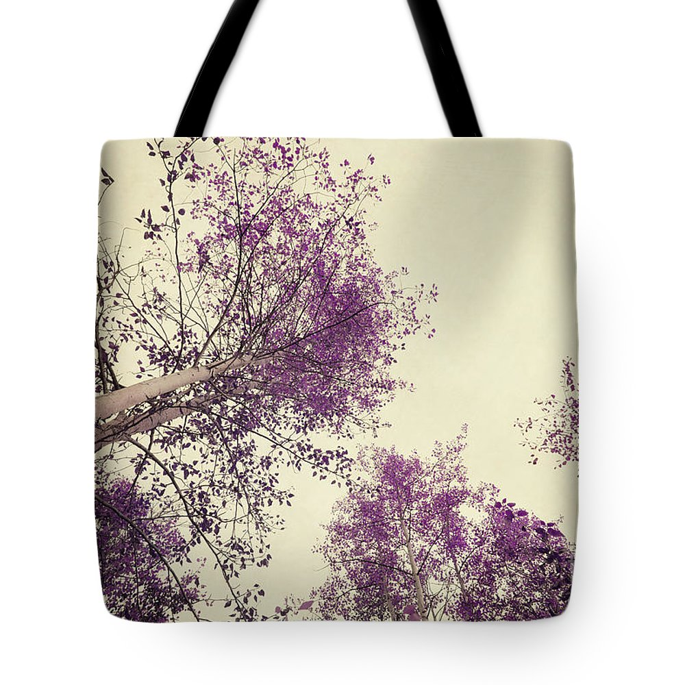 Tree Tote Bag featuring the photograph Pink Trees by Priska Wettstein