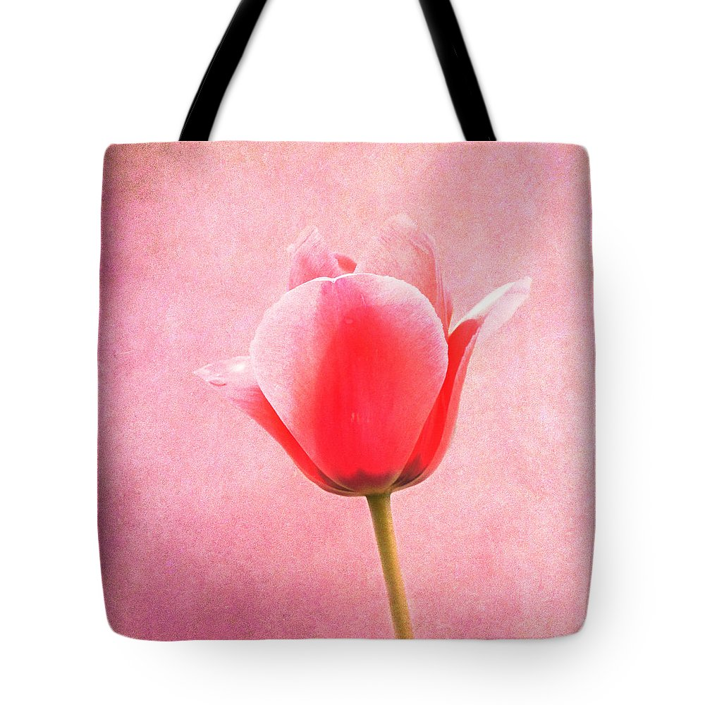 Pink Tote Bag featuring the photograph Pink Tulip by Art Spectrum
