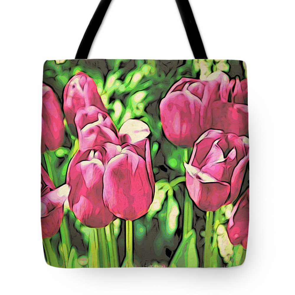 Tulips Tote Bag featuring the photograph Pink Tulips by Alice Gipson