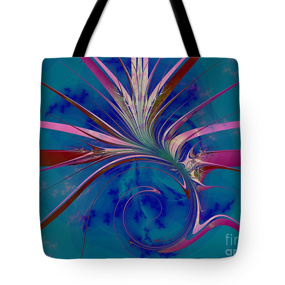 Fractal Art Tote Bag featuring the digital art Pink Yucca Twist by Elizabeth McTaggart