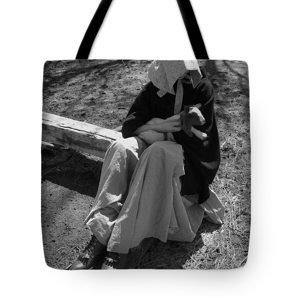 Kid Tote Bag featuring the photograph Pioneer Kid Play by Sheri Lauren
