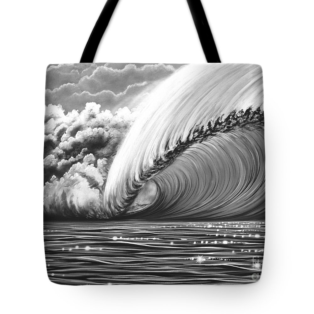 Pipeline Tote Bag featuring the painting Pipeline Gem by Marty Calabrese