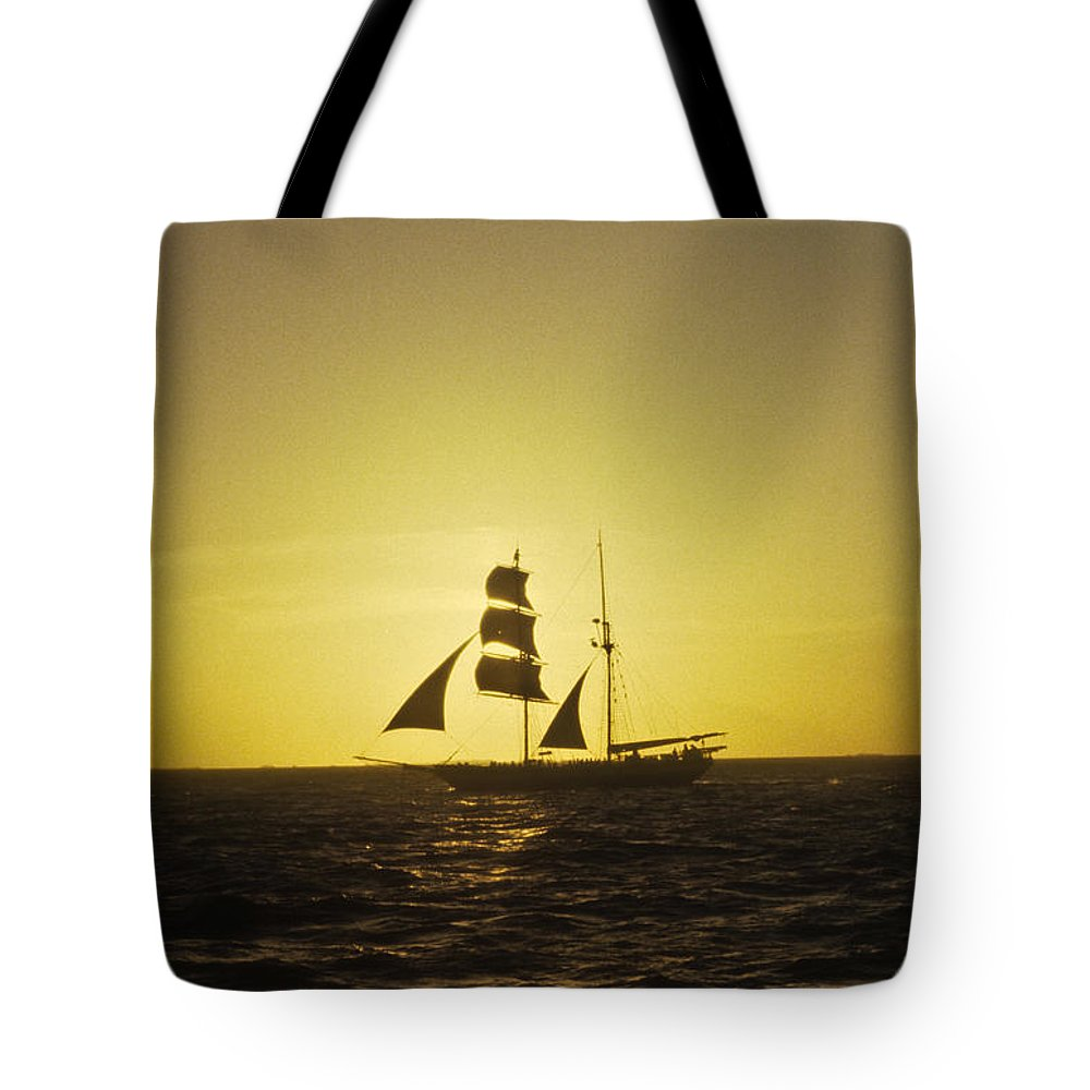 Pirates Tote Bag featuring the photograph Pirates At Sea - Caribbean by Douglas Barnett