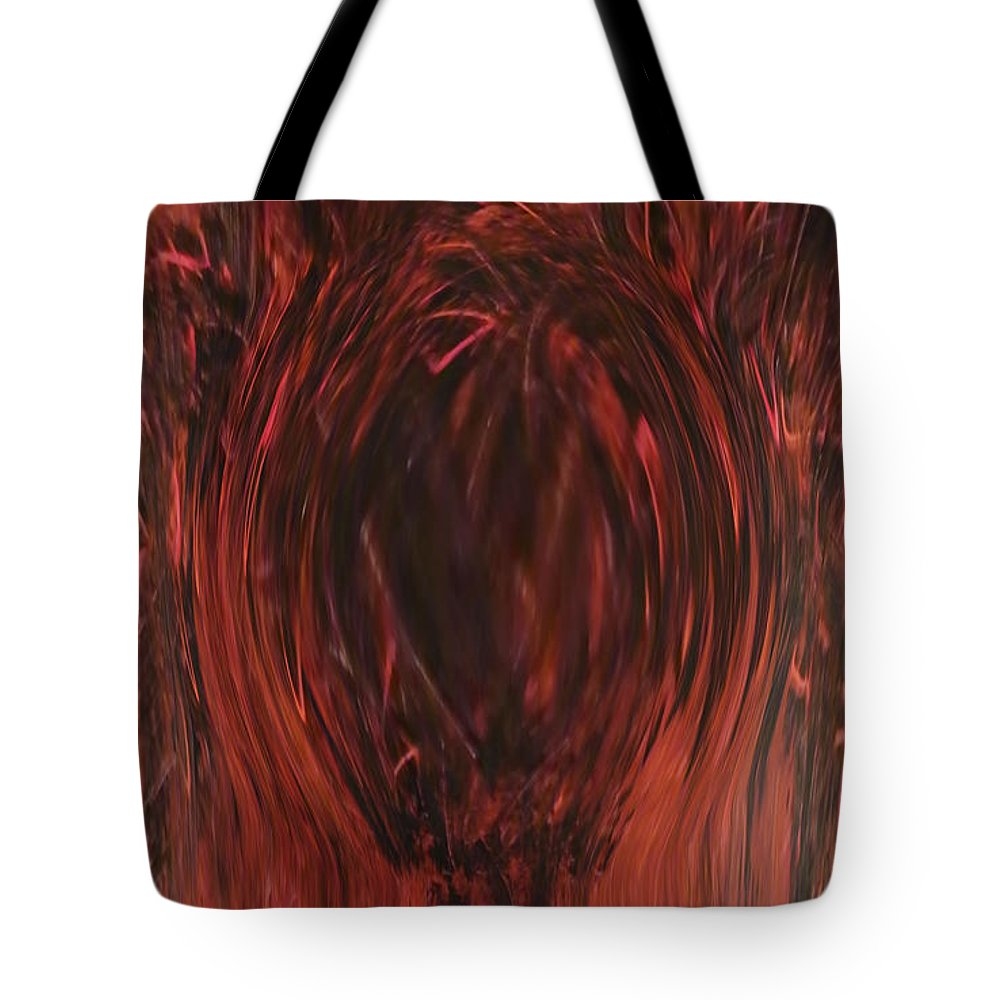 Black Tote Bag featuring the painting Pit Of Fire by Alli Cullimore