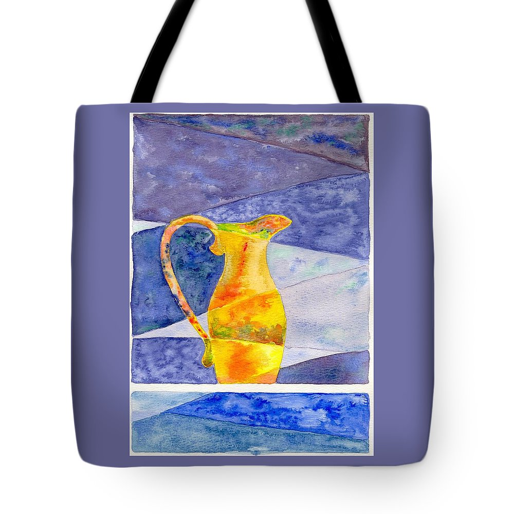 Still Life Tote Bag featuring the painting Pitcher 1 by Micah Guenther