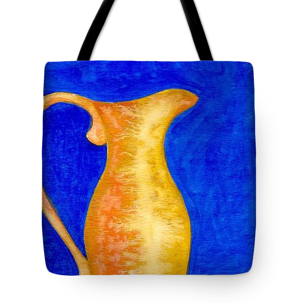Still Life Tote Bag featuring the painting Pitcher 2 by Micah Guenther