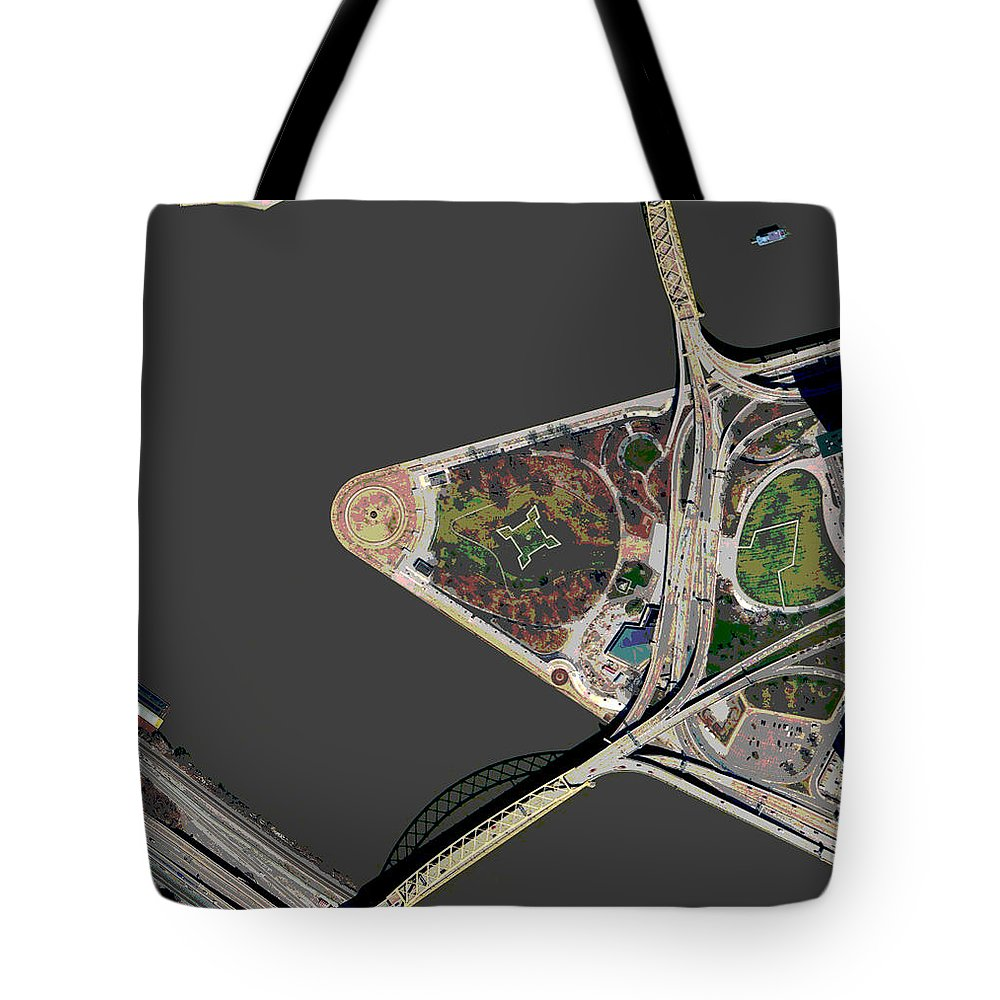 Pittsburgh Tote Bag featuring the photograph Pittsburgh Golden Triangle 1 by Frank Tozier