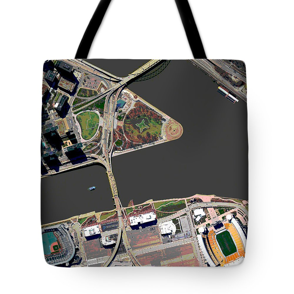 Pittsburgh Tote Bag featuring the photograph Pittsburgh Golden Triangle 2 by Frank Tozier