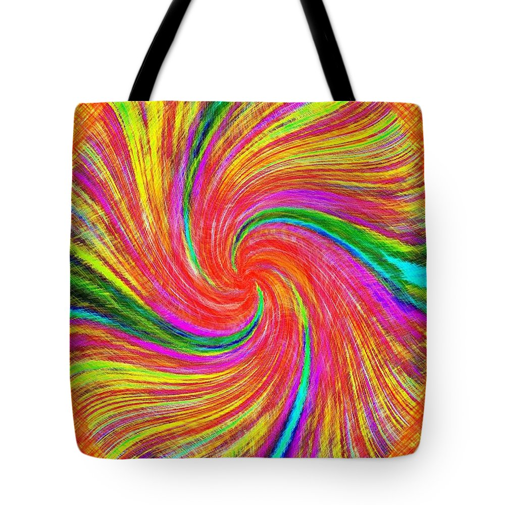 Abstract Tote Bag featuring the digital art Pizzazz 43 by Will Borden