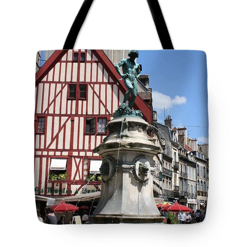 Frame House Tote Bag featuring the photograph Place Francois Rude - Dijon by Christiane Schulze Art And Photography