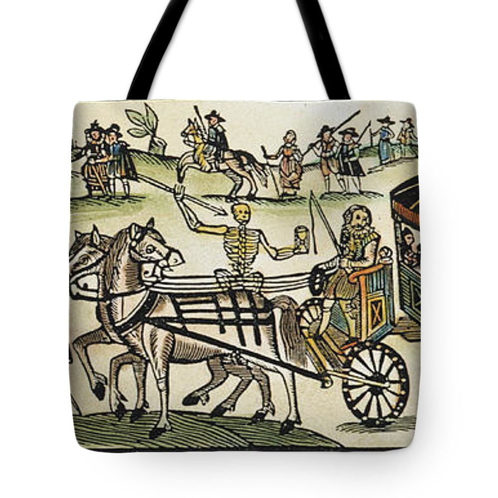 1630 Tote Bag featuring the photograph Plague Of London by Granger