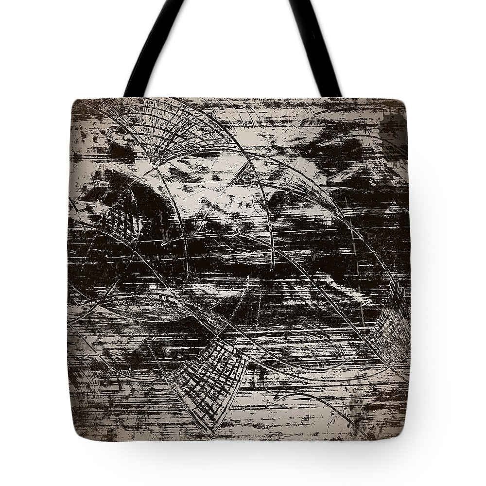 Playing With Birds Tote Bag featuring the drawing Playing With Birds by Krzysztof Spieczonek