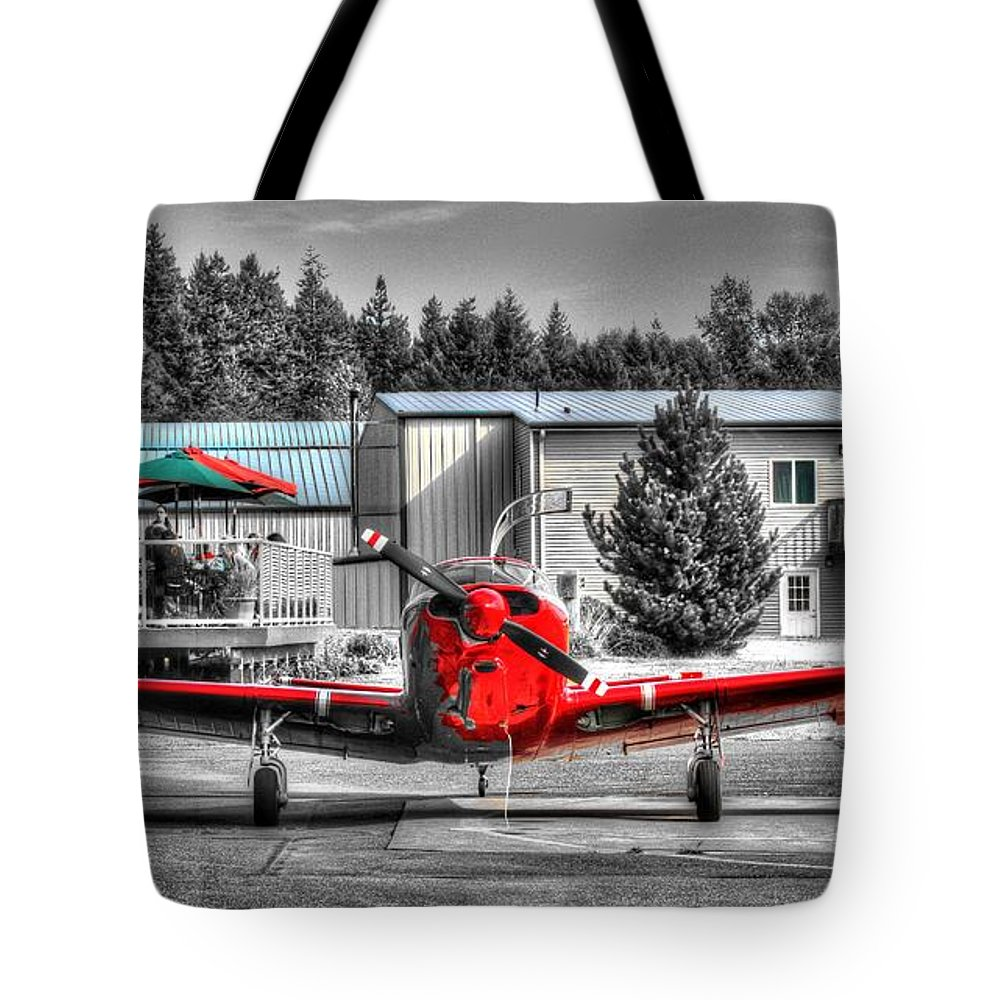 Plane Tote Bag featuring the photograph Flying To Lunch In Pacific Northwest Washington by Tap On Photo