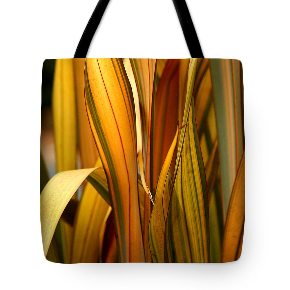 Blade Tote Bag featuring the photograph Plant In Yellow And Green by Art Block Collections