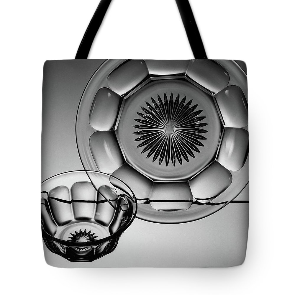 Home Accessories Tote Bag featuring the photograph Plate And Bowl by Martinus Andersen