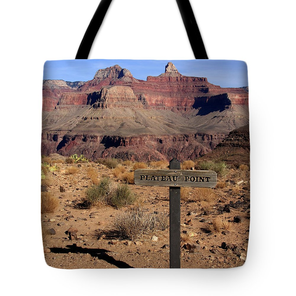 Grand Canyon Tote Bag featuring the photograph Plateau Point Grand Canyon by Aidan Moran