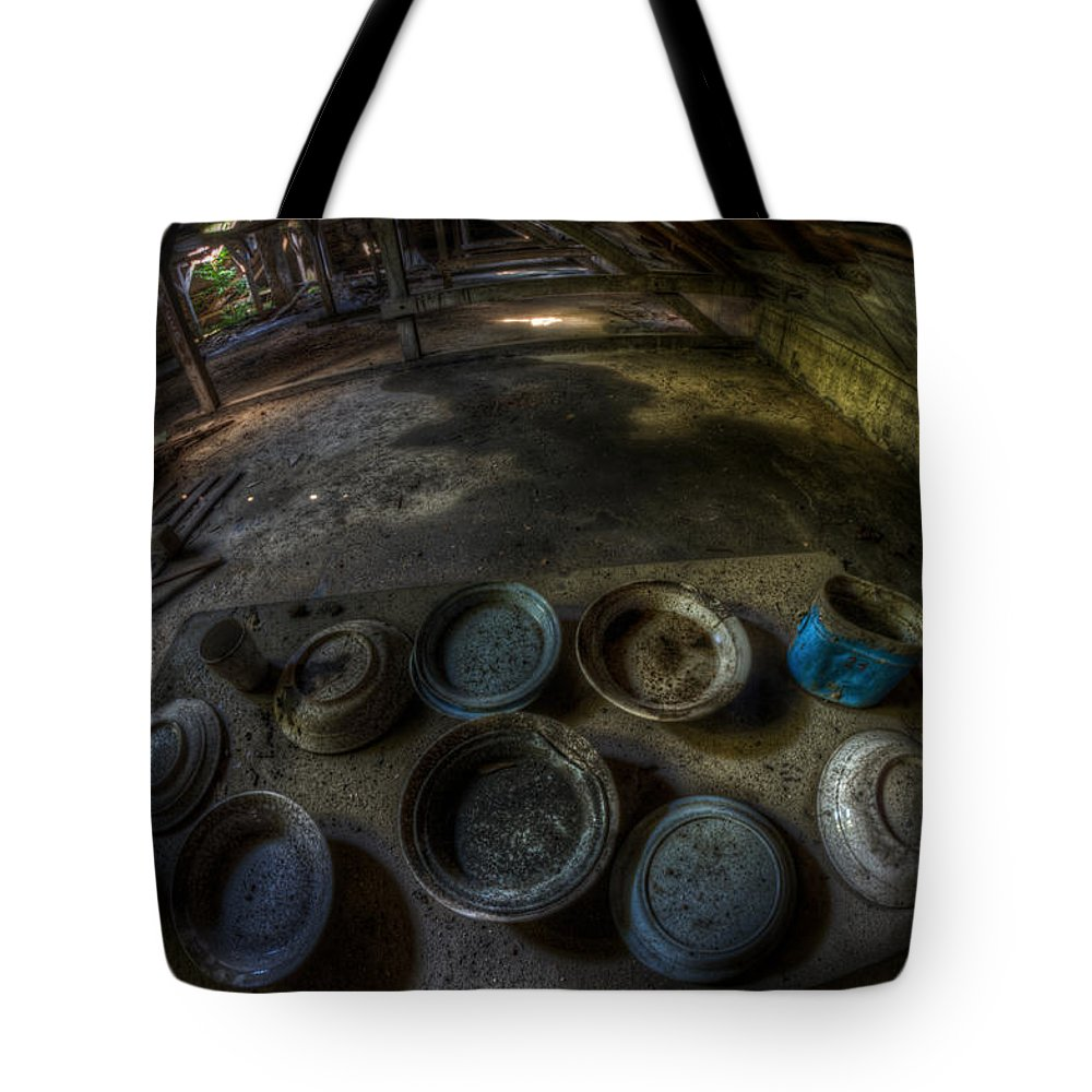 Dirty Dishes Digital Art Tote Bags