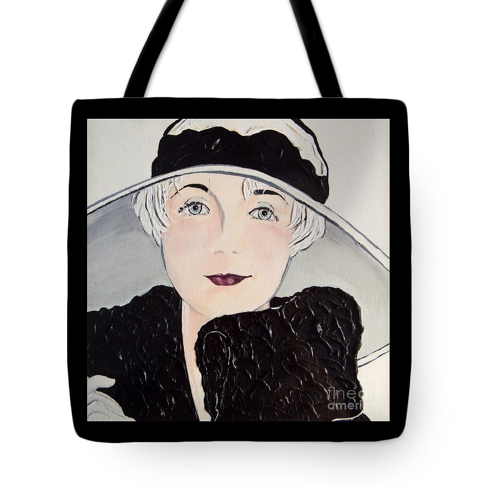 Platinum Tote Bag featuring the painting Platinum Chic by Barbara Chase