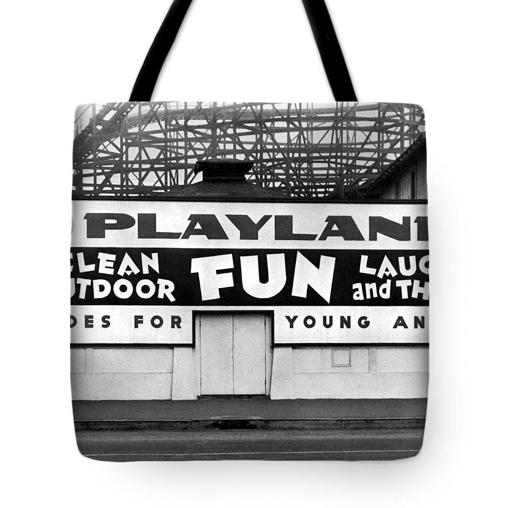 1940's Tote Bag featuring the photograph Playland At The Beach by Underwood Archives