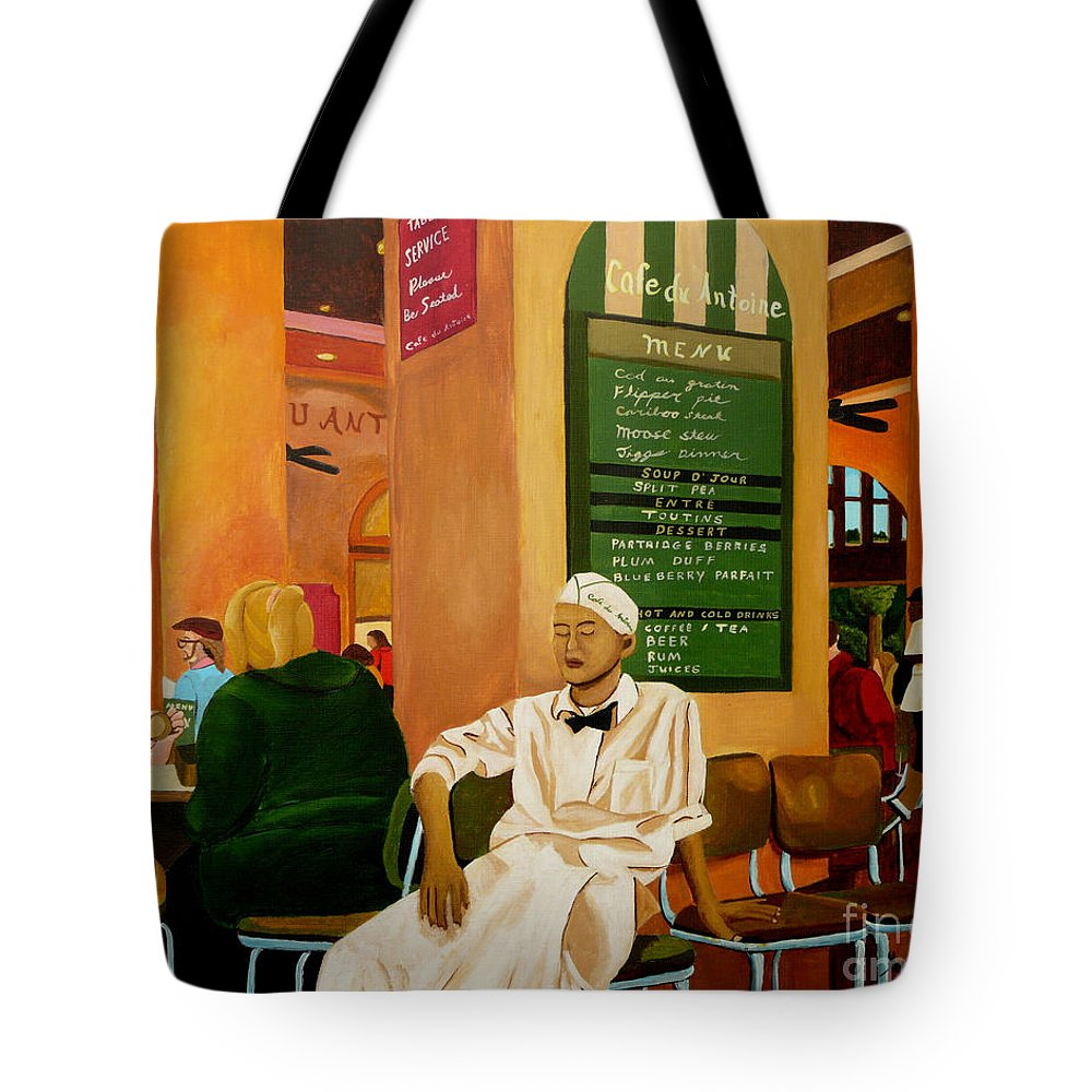 Cafe Tote Bag featuring the painting Please Be Seated by Anthony Dunphy