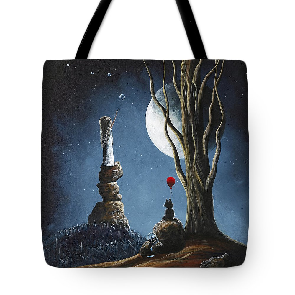 Surreal Art Tote Bag featuring the painting Surreal Art Print by Shawna Erback by Fairy and Fairytale