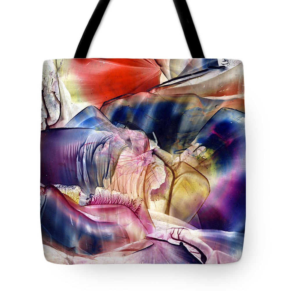 Abstract Tote Bag featuring the painting Pleiades Above by Cristina Handrabur