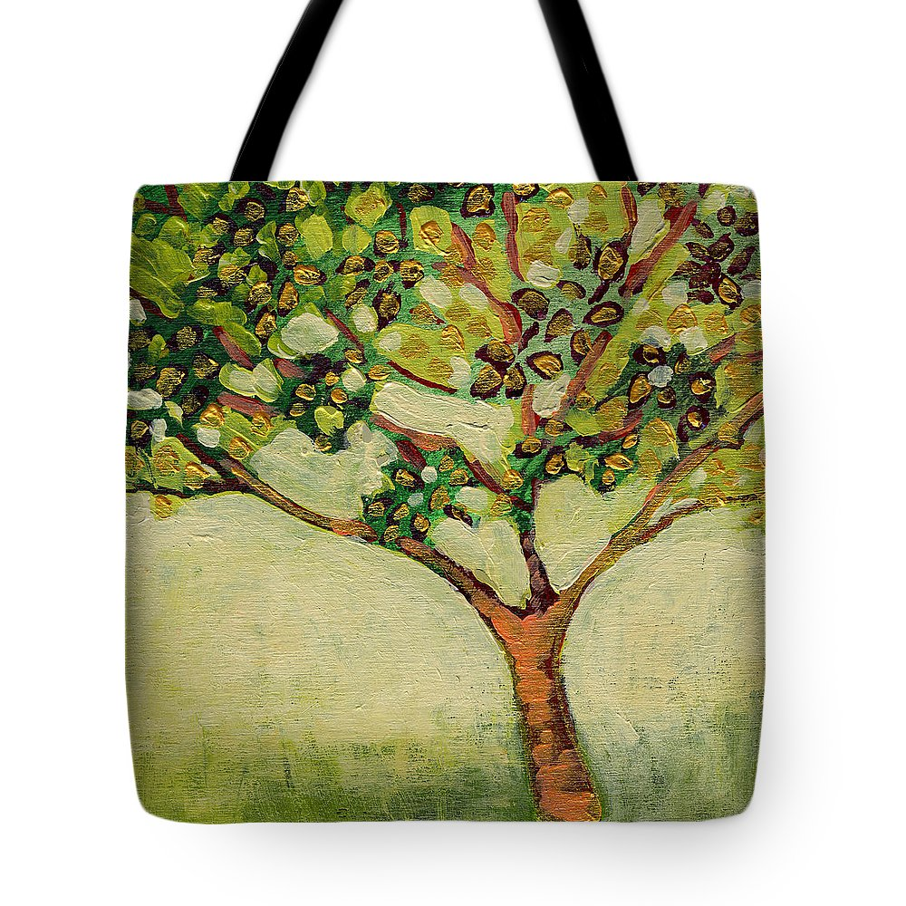 Tree Tote Bag featuring the painting Plein Air Garden Series No 8 by Jennifer Lommers