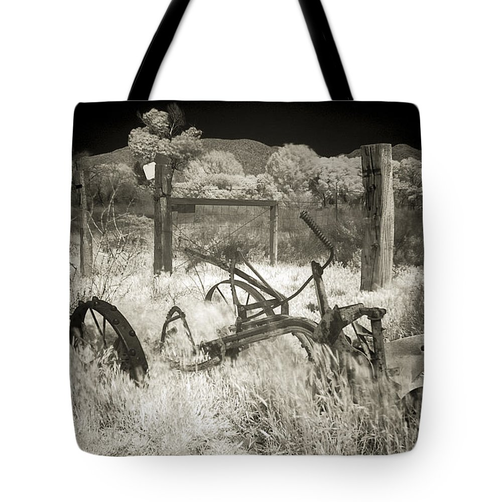 Plow Tote Bag featuring the photograph Plowed Under by Scott Campbell