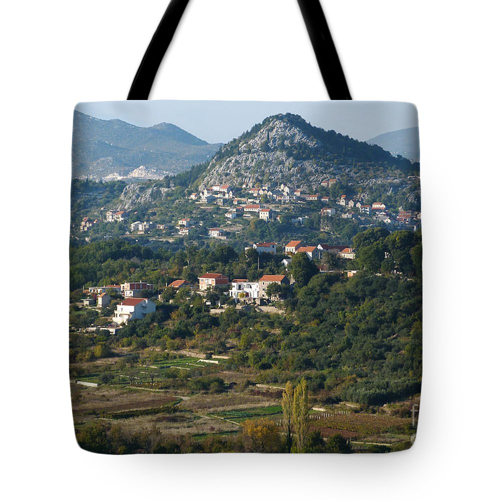 Village Tote Bag featuring the photograph Podgrade - Cetina Valley - Croatia by Phil Banks
