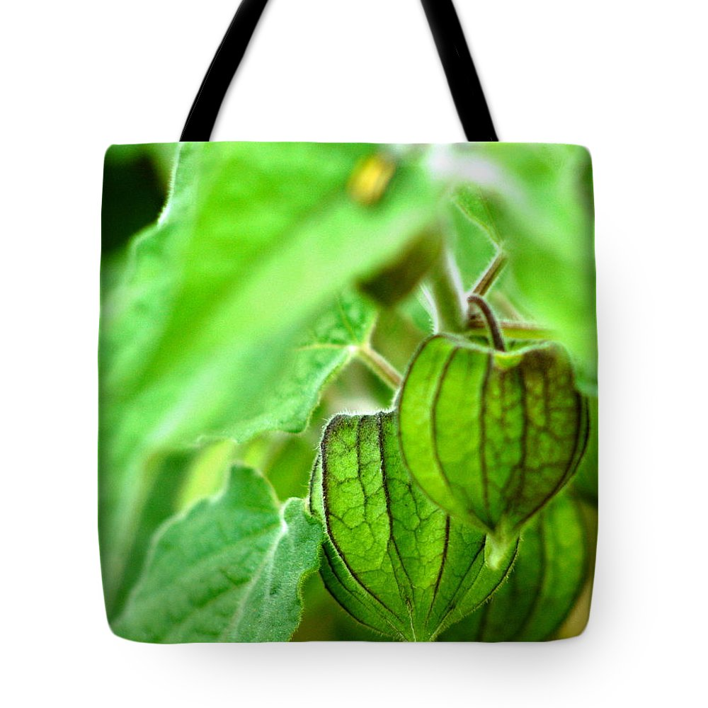 Cape Gooseberry Tote Bag featuring the photograph Poha Berry Lanterns by Lehua Pekelo-Stearns