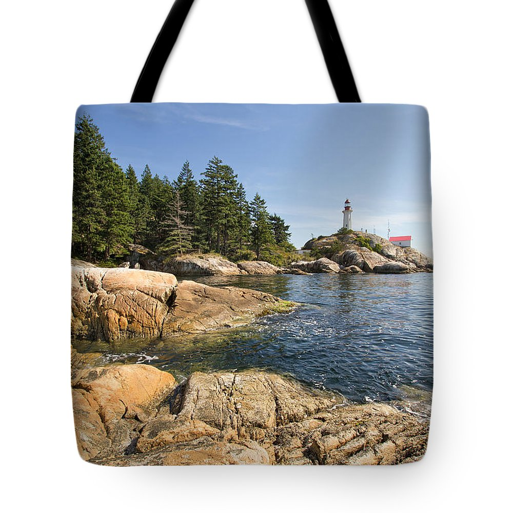 Point Tote Bag featuring the photograph Point Atkinson Lighthouse In Vancouver Bc by Jit Lim