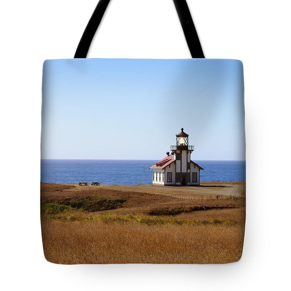 Lighthouse Tote Bag featuring the photograph Point Cabrillo Light House by Abram House
