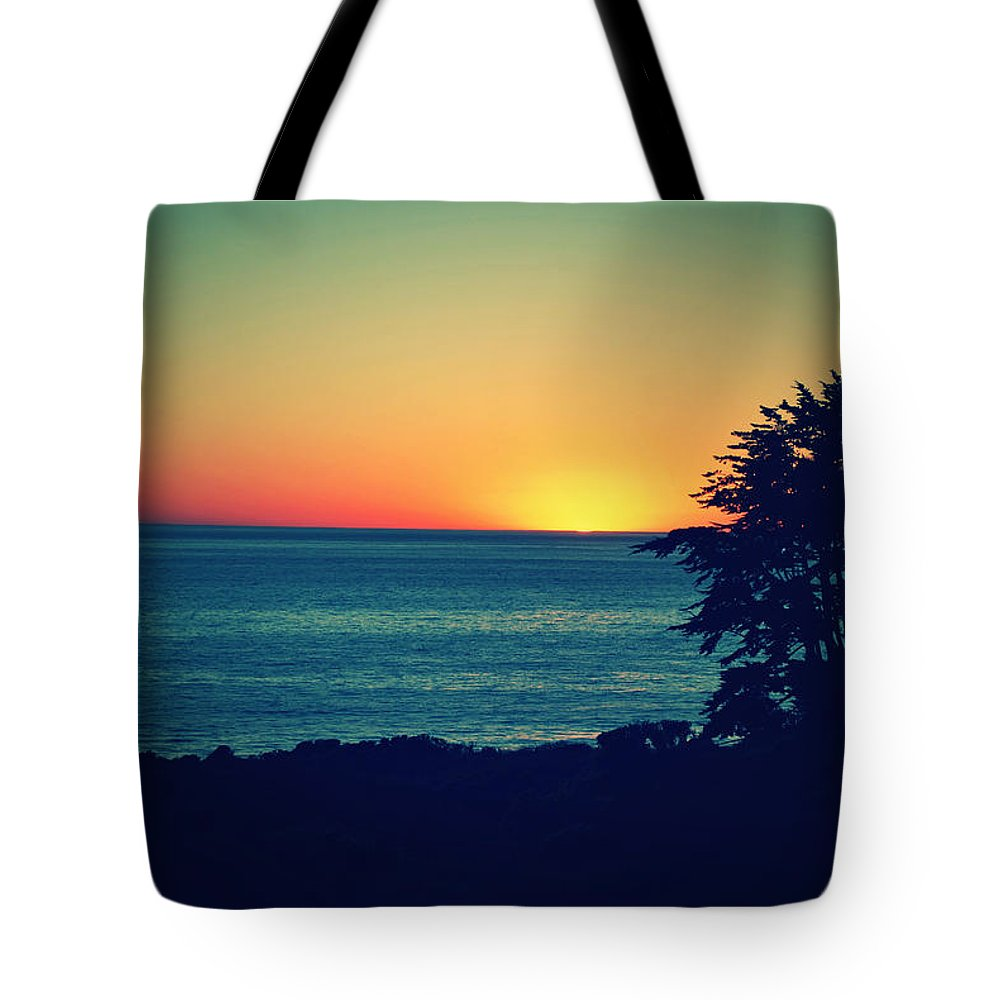 Point Dume Tote Bag featuring the photograph Malibu Sunset by Dana Bell